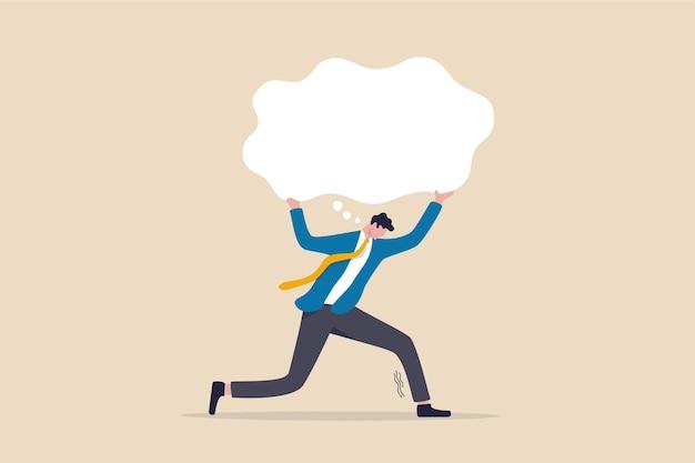 Pensando demais, obsessivo no trabalho ou com muitos problemas.