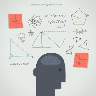 Pensando mente ilustração