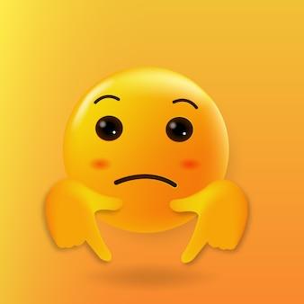 Pense emoji fofo para clicar aqui