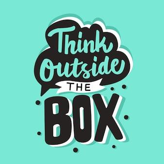 Pense fora da caixa de letras