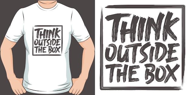 Pense fora da caixa. design exclusivo e moderno de camisetas