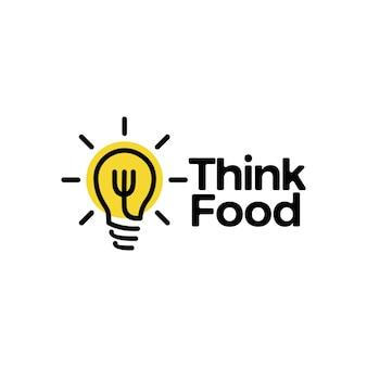 Pense no logotipo do garfo para lâmpada