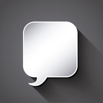 Pense projeto de balão de texto