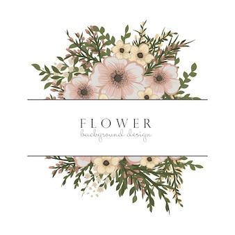 Pensionista de flores com flores bege