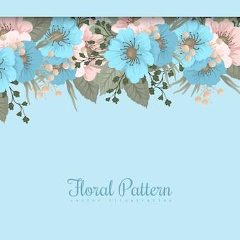 Pensionista de flores da primavera - flor azul claro