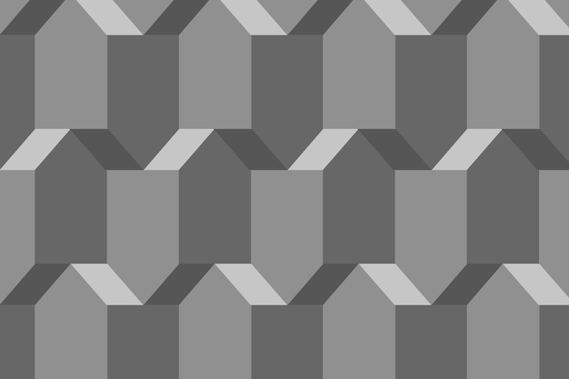 Pentágono 3d padrão geométrico vetorial fundo cinza em estilo abstrato