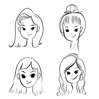 Penteado de mulher.