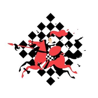 Peões empoleirados no xadrez