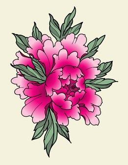 Peônia flor japonesa