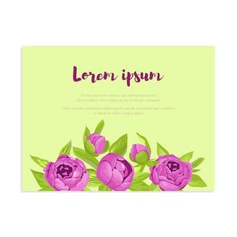 Peônias roxas vintage no quadro