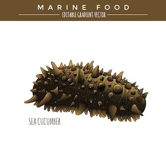 Pepino do mar. alimentos marinhos
