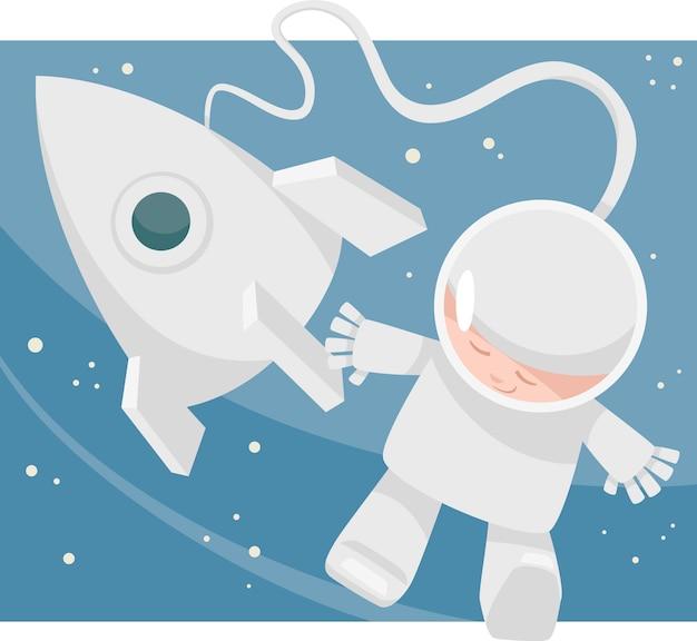 Pequena ilustração dos desenhos animados espacial