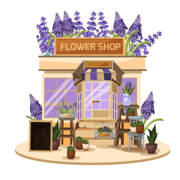 Pequena loja de flores.