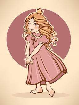 Pequena princesa ilustração dos desenhos animados