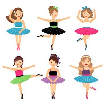 Pequenas bailarinas em branco