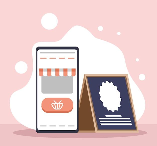 Pequenas empresas de compras online