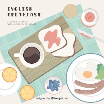 Pequeno-almoço inglês delicioso