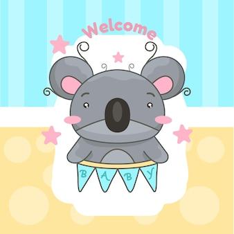 Pequeno coala para chá de bebê