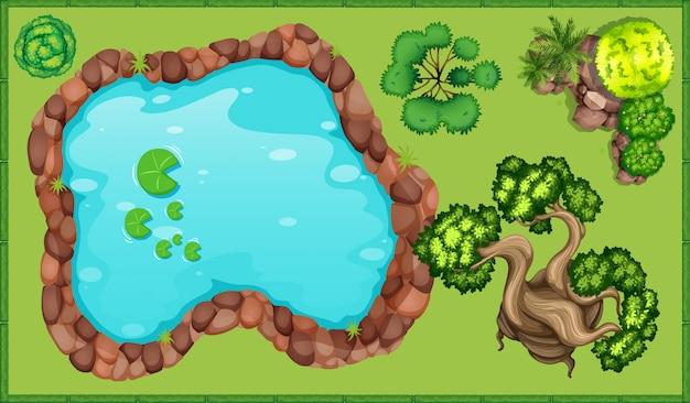 Pequeno lago no parque