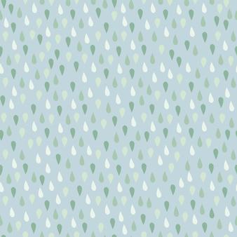 Pequeno padrão sem emenda de elementos de gota de chuva.
