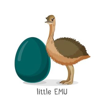 Pequeno pássaro emu