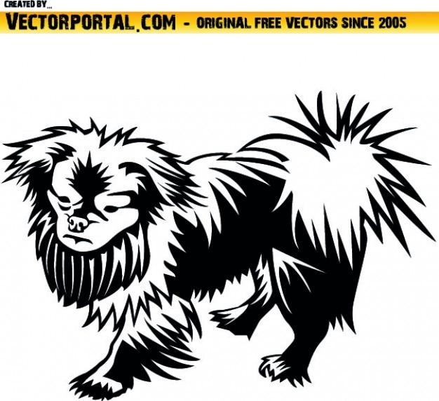 Pequinês cão de estimação clip art