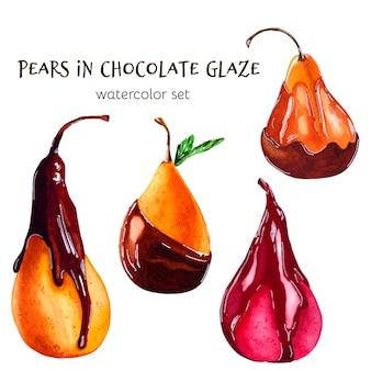Peras de chocolate