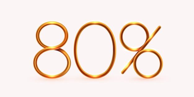 Percentual de desconto na mega venda de composição criativa ou símbolo de bônus de porcentagem