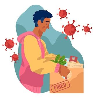Perda de emprego devido a crise de coronavírus