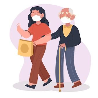Perda de emprego devido a ilustração de crise de coronavírus