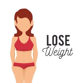 Perder ícones do conceito de peso