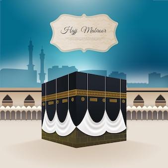 Peregrinação islâmica (hajj) papel de parede realista
