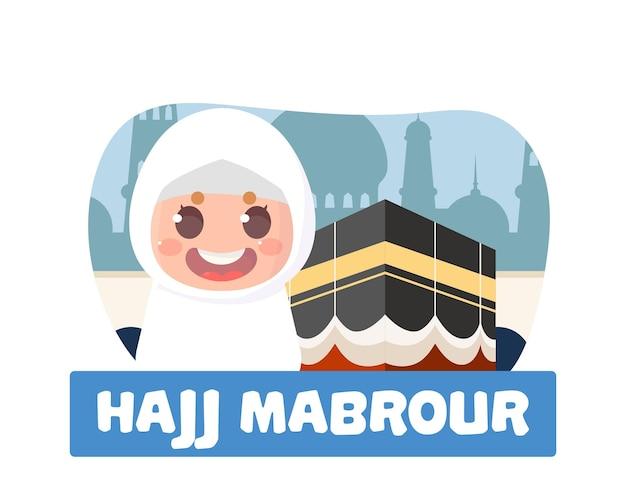 Peregrinos islâmicos da celebração do hajj mabrour