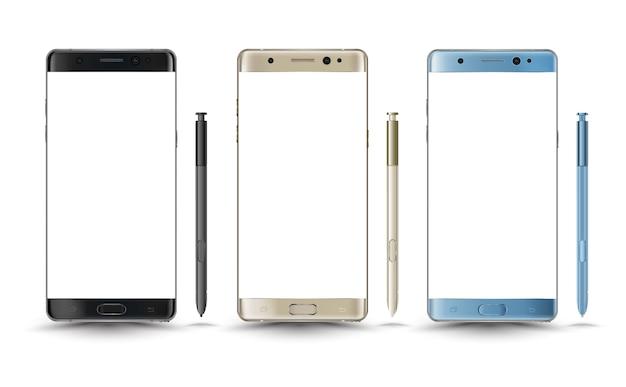Perfeitamente detalhada nova nota de galáxia de smartphones 7