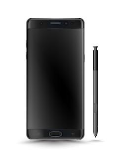 Perfeitamente detalhado novo estilo de nota 7 de smartphones galáxia