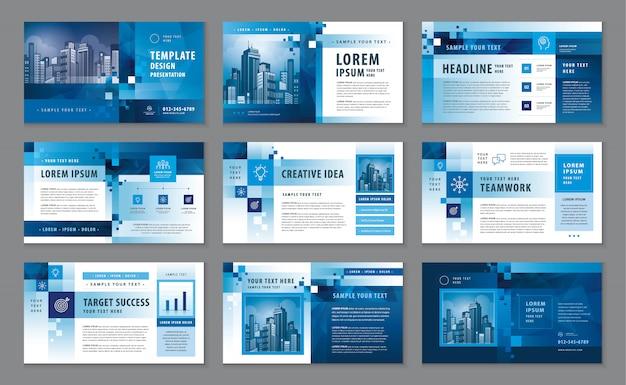 Perfil corporativo, modelo de design de catálogo de apresentação de negócios