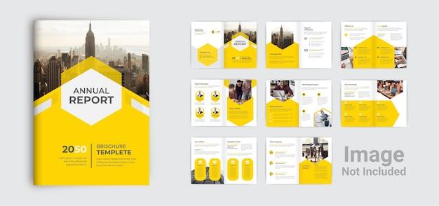 Perfil corporativo moderno da empresa e modelo de design de brochura comercial de várias páginas