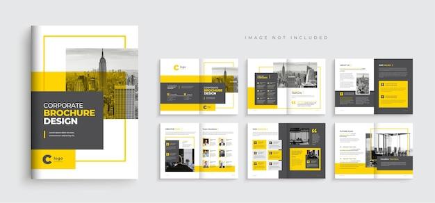 Perfil da empresa design de modelo de folheto de várias páginas layout de modelo de folheto comercial criativo