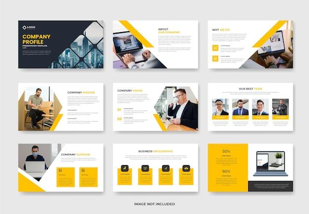 Perfil da empresa e modelo de slide de apresentação de proposta de projeto de negócios