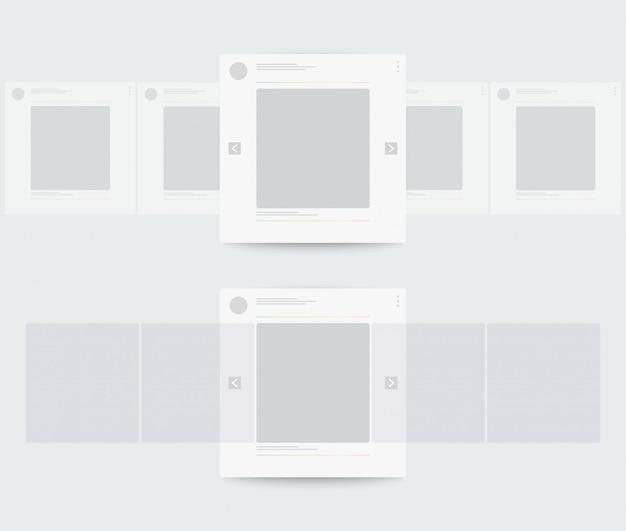 Perfil da página móvel com rolagem horizontal.