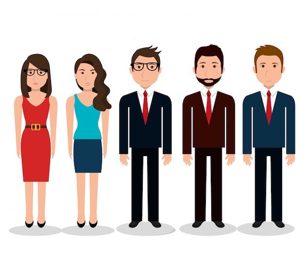 Perfil de pessoas de negócios
