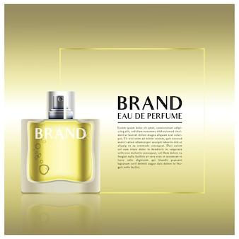 Perfume de garrafa de vidro premium em ouro para a sua marca