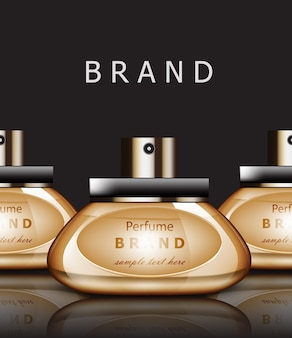 Perfumes dourados realistas