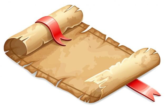 Pergaminho real decorado fita de cetim.