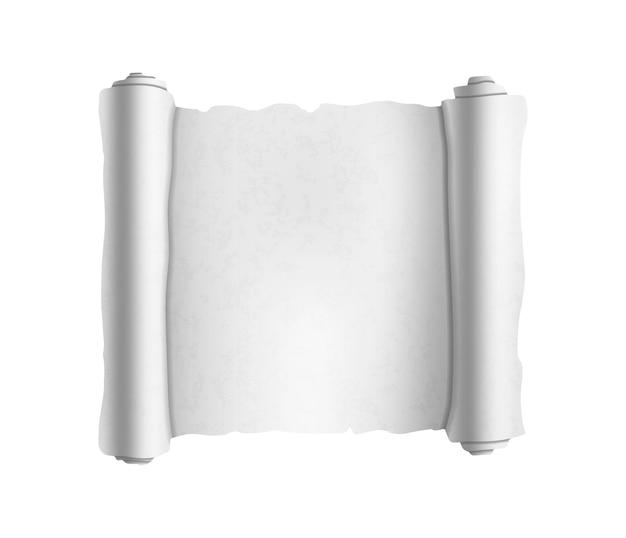 Pergaminho texturizado branco velho em branco