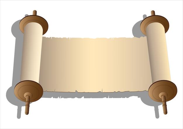 Pergaminhos antigos de vetor
