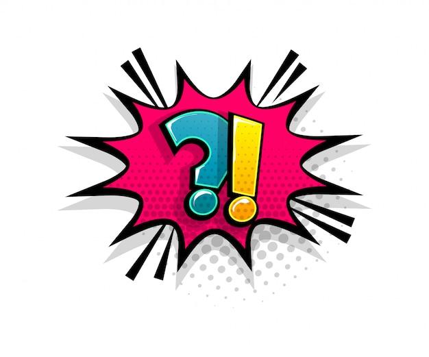 Pergunta de texto em quadrinhos sobre o estilo pop art do balão de fala