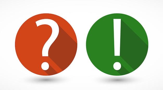 Pergunta e ponto de exclamação
