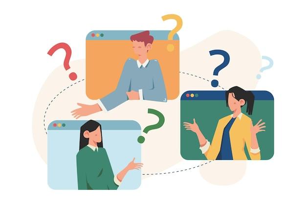 Perguntas frequentes de pessoas sobre pontos de interrogação