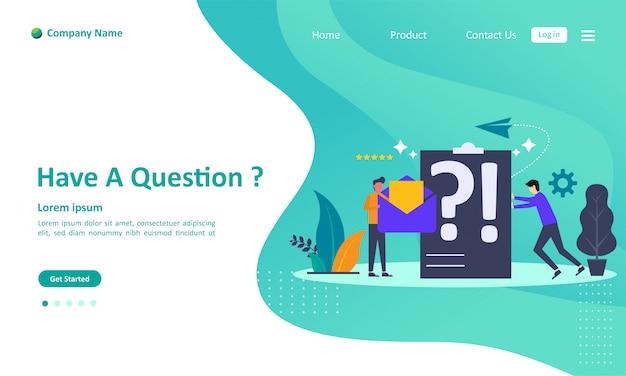 Perguntas frequentes página de destino